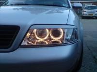 Реснички на фары для Audi A6 (C5)