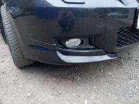 Клыки на передний бампер Mazda 3 Sedan