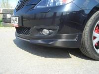 Клыки на передний бампер Mazda 3 Hatchback