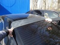 Широкий козырек на заднее стекло для Honda Accord 7