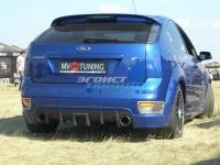 Накладка (диффузор) на задний бампер «Sport» для Ford Focus 2 ST Hatchback (2005-2008)