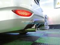Диффузор заднего бампера под раздвоенный выхлоп для Hyundai Solaris