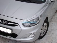 Реснички на фары для Hyundai Solaris