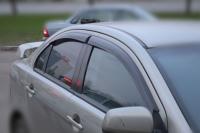 Дефлекторы боковых стекол для Mitsubishi Lancer X