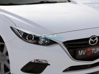 Реснички на обычные фары для Mazda 3 BM (2013-2016)