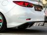 Клыки (накладки) заднего бампера «SkyActivSport» для Mazda 6 GJ