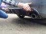 Накладка с диффузором на задний бампер Honda Accord 8