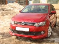 Накладка на передний бампер для Volkswagen Polo Sedan