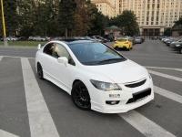 Накладка на передний бампер Mugen для Honda Civic 8 4D (Рестайлинг)