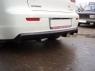 Накладка с диффузором на задний бампер Mitsubishi Lancer X